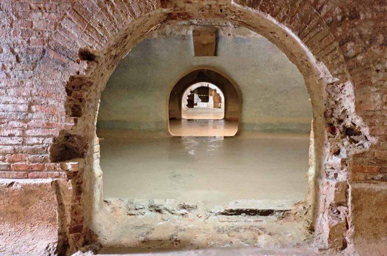 cisterne romane di fermo vista frontale del tunnel